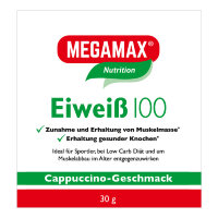 MEGAMAX (МЕГАМАКС) Basic & Active Eiweiss 100 Cappuccino-Geschmack 30 г