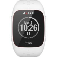 GPS heat rate monitor watch with built-in sensor Polar M430 weiss Bluetooth