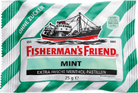 Fisherman's Friend Pastillen, mint, Minze, zuckerfrei, 25 g Пастилки с Мятой 1 шт.