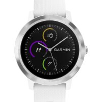 GPS heat rate monitor watch with built-in sensor Garmin vivoactive 3 white M/L