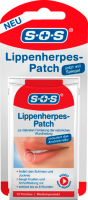 SOS Lippenherpes Patches Пластырь против герпеса на губах, 12 шт