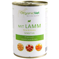 OrganicVet (Органиквет) HUND Nassfutter SENSITIVE Lamm, Hirse mit Kurbis 400 г