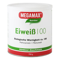 MEGAMAX (МЕГАМАКС) Nutrition Eiweiss 100 Himbeer-Geschmack 750 г